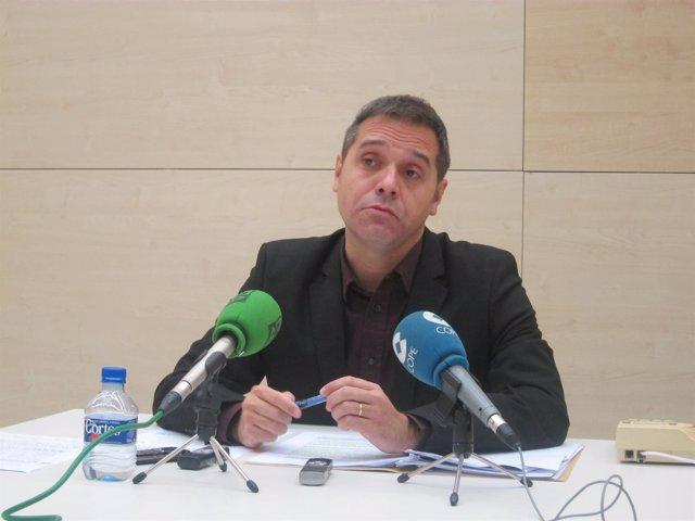 Amadeu Sanchis en una rueda de prensa