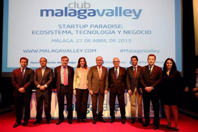 Pedro J. Ramírez, De la Torre, Luis Solana y Cremades reunión Club Málaga Valley