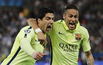 Suárez y Neymar lideran al Barça y vivirán su primera semifinal de 'Champions'