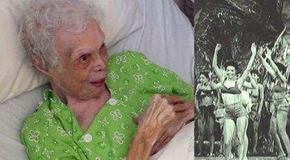 Alice Barker, de 102 años, ve sus vídeos de cuando era bailarina por primera vez