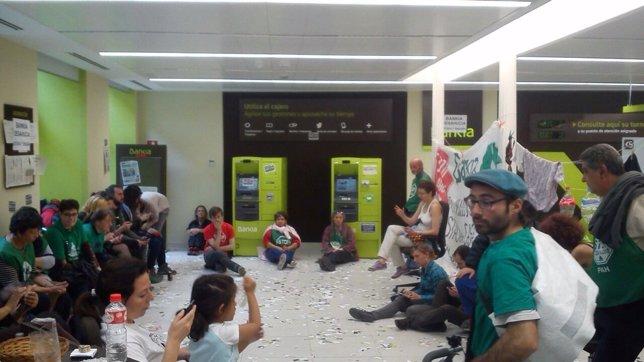 Oficina de Bankia okupada
