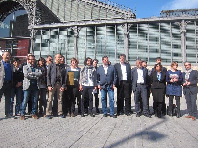 El líder de ERC, Oriol Junqueras, con su propuesta de nueva Ejecutiva del partid