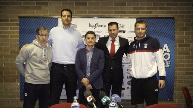 Oriol Junyent, en su despedida como jugador de baloncesto