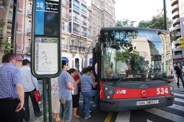 Autobús en Aragón