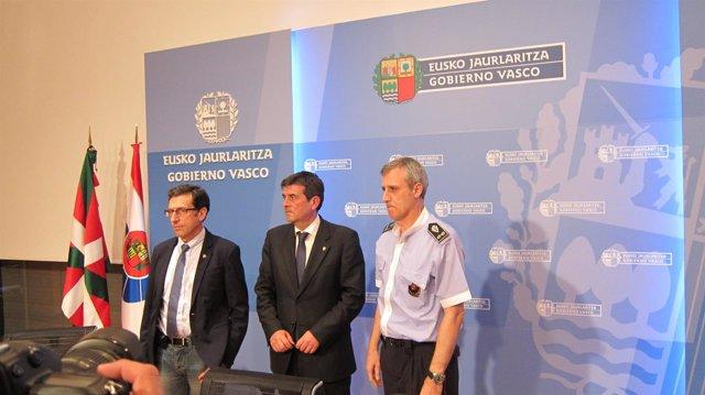 Gervasio Gabirondo, Josu Zubiaga y Juan Vicente Bilbao