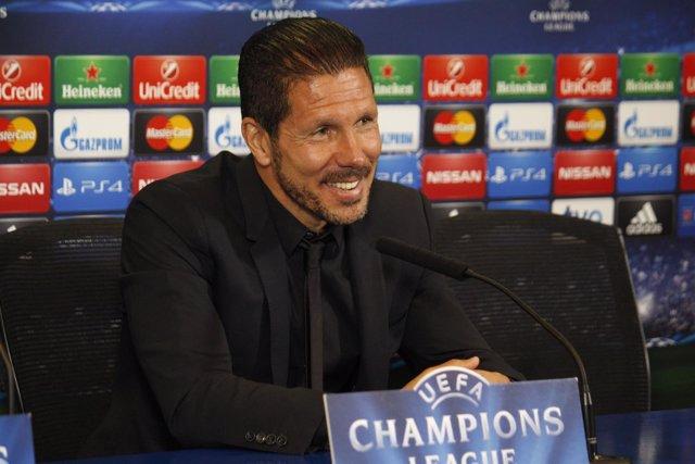 Diego Pablo Simeone en rueda de prensa de Champions