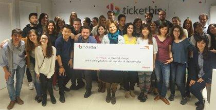 RSC.-Ticketbis dona casi 14.000 euros a la ONG World Vision con la colaboración de sus usuarios