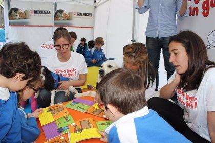 Purina y Ánimalnen celebran Sant Jordi con un taller de lectura con perros