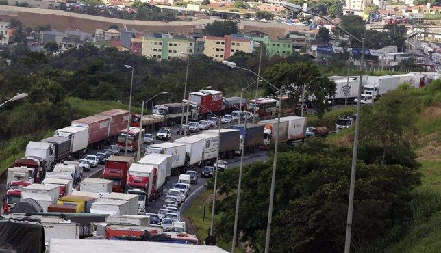 Huelga de camioneros en Brasil