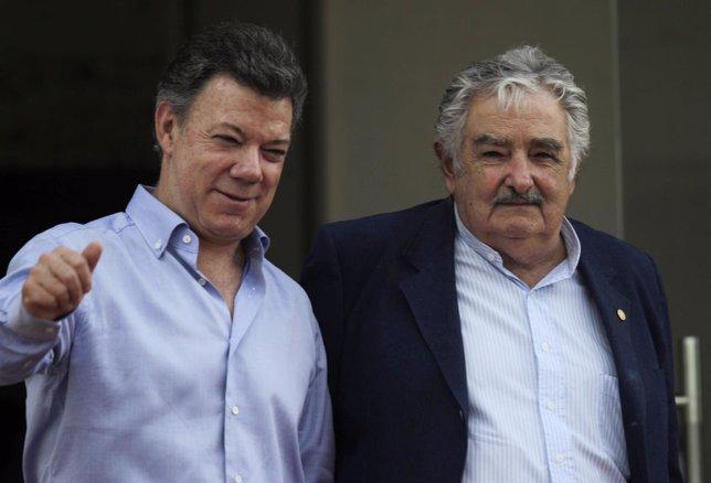 José Mujica y Juan Manuel Santos