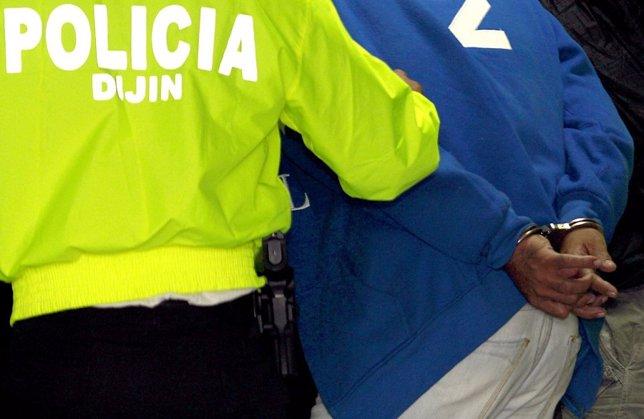 Policía de Colombia, detenidos, detenciones