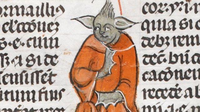 Yoda en un manuscrito medieval