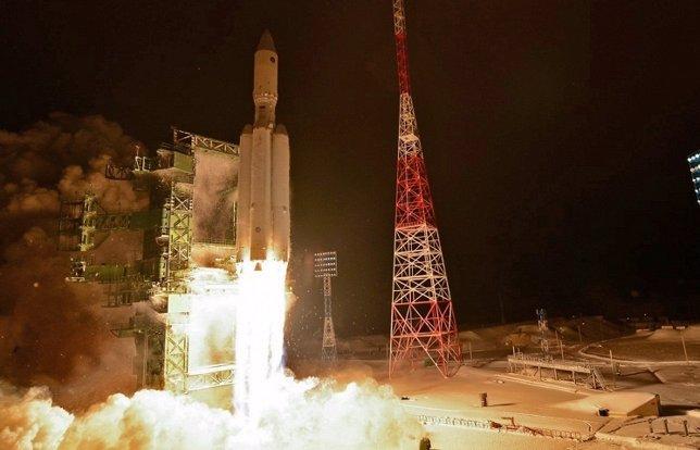 Despegue de un cohete ruso