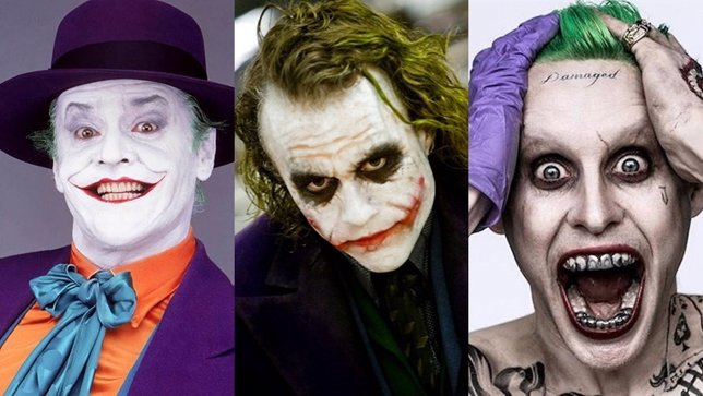 Jack Nicholson, Heath Ledger, Jared Leto