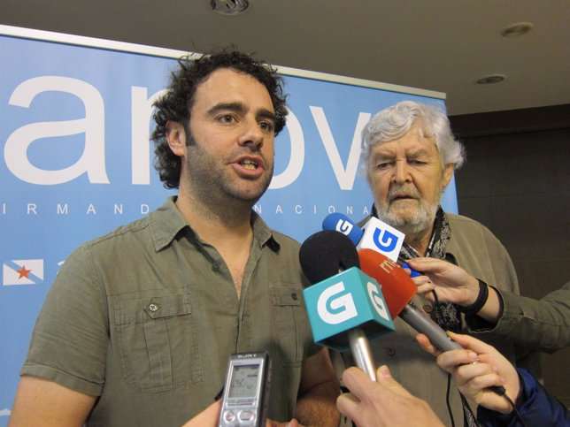 David Rodríguez y Xosé Manuel Beiras en declaraciones a los medios