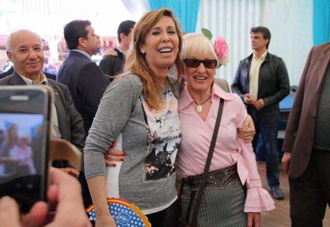 Alicia Sánchez Camacho, en la Feria de Abril