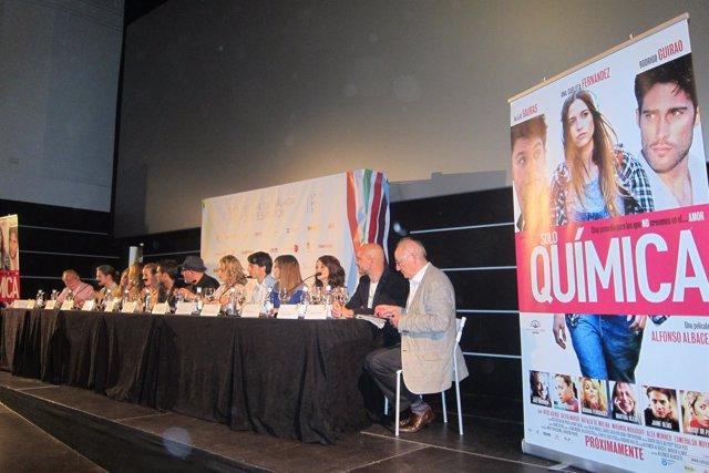 Elenco de la película 'Solo química' en Festival de Málaga