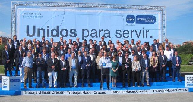 Acto del PP con los 102 candidatos a alcaldes