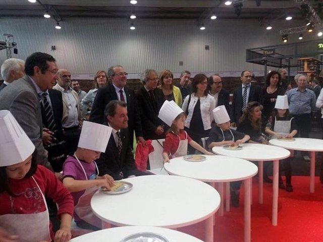 El pte.Artur Mas, en la inauguración de la Fira Q de Balaguer
