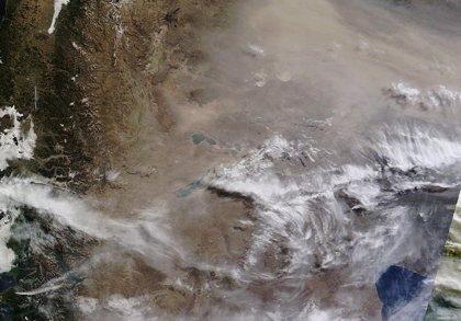 Las imágenes de las cenizas del volcán Calbuco sobre Buenos Aires