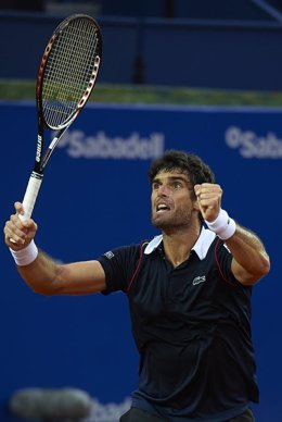 Pablo Andújar tras ganar a Ferrer en el Godó
