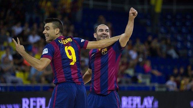 Sergio Lozano y Wilde celebrando uno de sus goles.