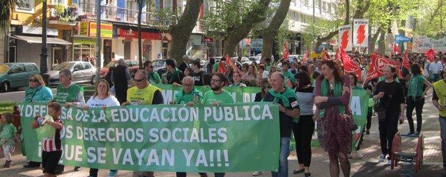 Manifestación contra las políticas del PP