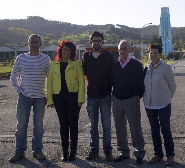 Miembros de la candidatura de IU alAyuntamiento de Piélagos