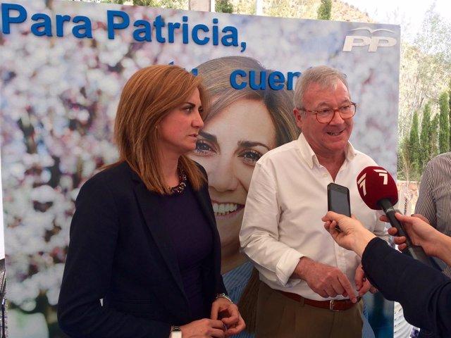 Valcárcel con Patricia Fernández