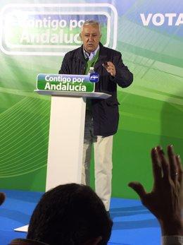 Javier Arenas, en Ayamonte