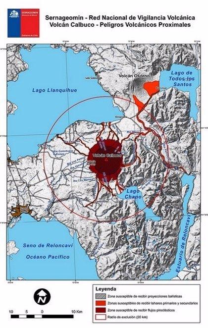 Sernageomin prevé aluviones volcánicos si llueve sobre el Calbuco