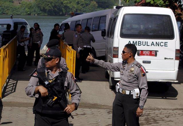 Exteriores de la prisión indonesia de Nusa Kambangan en Cilacap