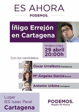 Cartel del acto de Íñigo Errejón