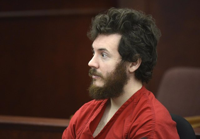 Accused Aurora theater shooting suspect James Holmes listens at his arraignment