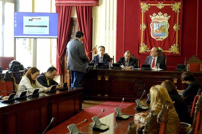 Pleno para la elección de presidente y vocales de mesa para el 24M en Málaga