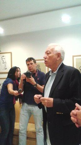 García-Margallo en la Embajada en Nueva Delhi