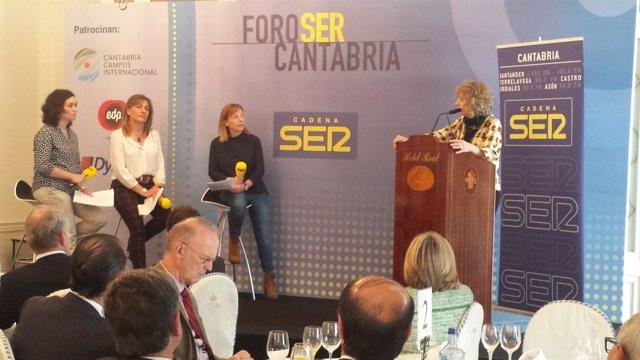 Eva Díaz Tezanos en el Foro Ser Cantabria