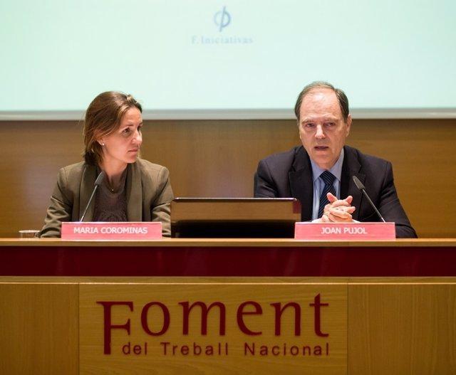 M.Corominas (F.Iniciativas) y J.Pujol (Fomento del Trabajo)