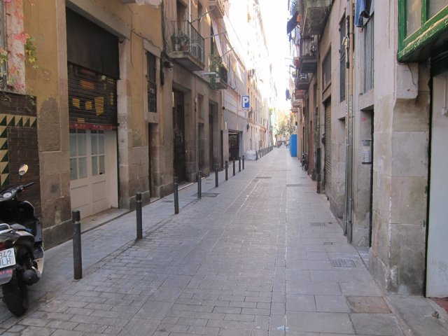 Calle Aurora de Barcelona donde detuvieron a  J.A.Benítez