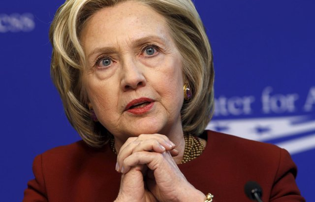 La candidata presidencial Hillary Clinton