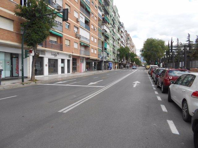 Calles de Granada sin elementos de señalización