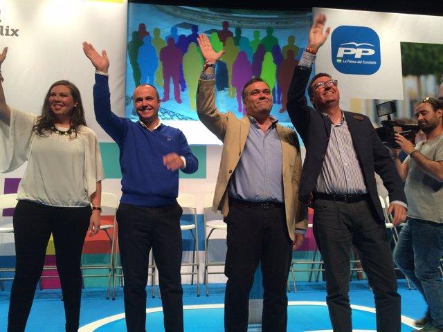 Presentación de la candidatura del PP en La Palma del Condado.