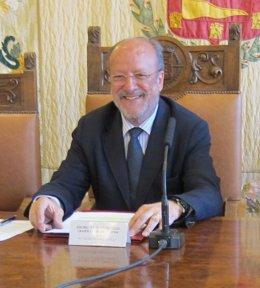 El alcalde de Valladolid, Javier León de la Riva
