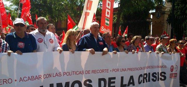 Manifestación UGT-A y CCOO-A para el 1 de Mayo.