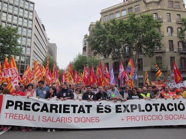 Manifestación del 1 de Mayo en Barcelona