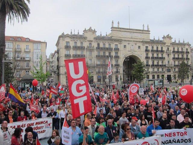 Manifestación Primero de Mayo en Santander