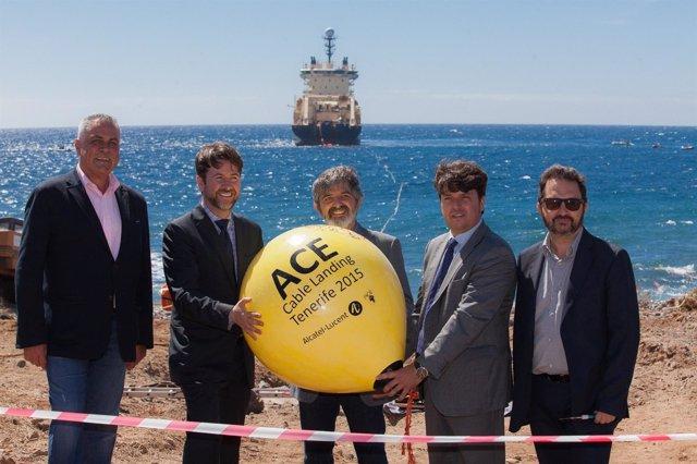 Acto de Amarre del Cable ACE en el ITER