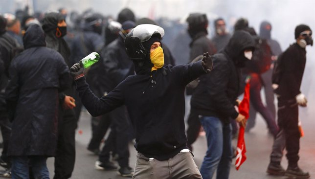 Disturbios durante inauguración Expo 2015 en Milan
