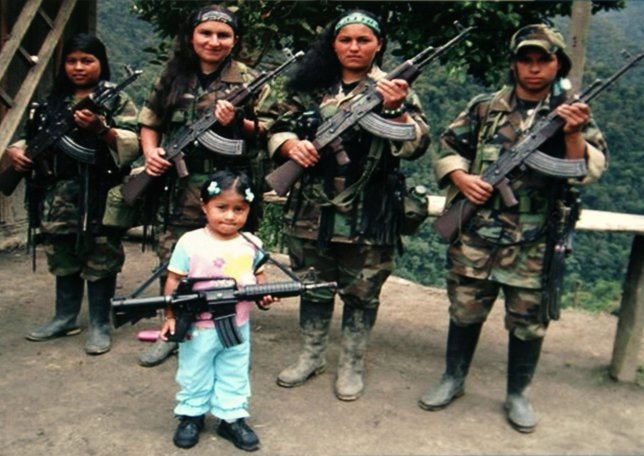 Reclutamiento de menores por las FARC