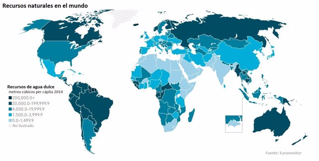 Recursos de Agua dulce en el mundo